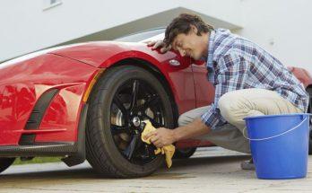 Chỉ dùng một xô nước để rửa xe