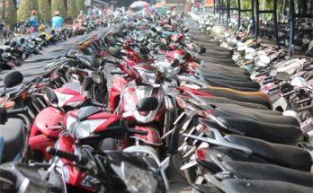 xe máy để ngoài nắng