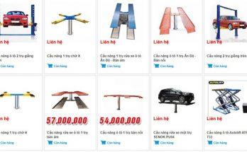 cầu nâng 1 trụ giá bao nhiêu