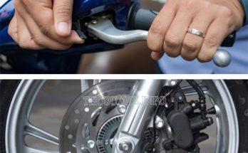 Cách chữa xe máy ăn dầu phanh gây nghẹt dầu