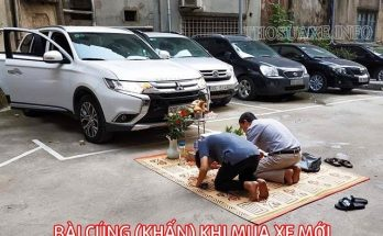 Cách làm lễ cúng xe mới mua bàn bản và chính xác nhất