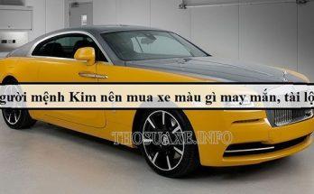 Mệnh Kim chọn xe màu gì khi đi mua ô tô