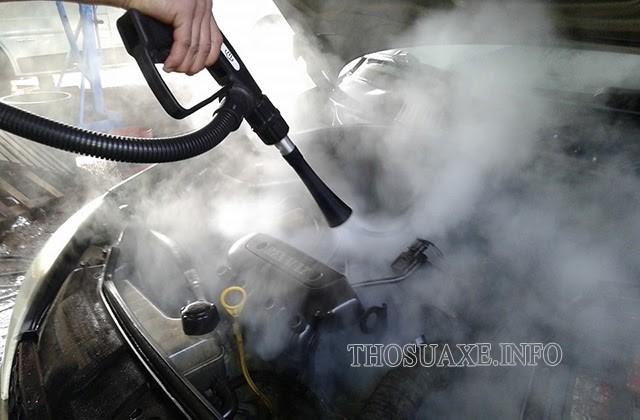 Phương pháp rửa xe ô tô bằng hơi nóng