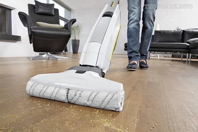 Làm sạch triệt để mọi bề mặt sàn