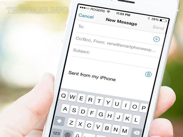 Cách gửi mail trên điện thoại Iphone