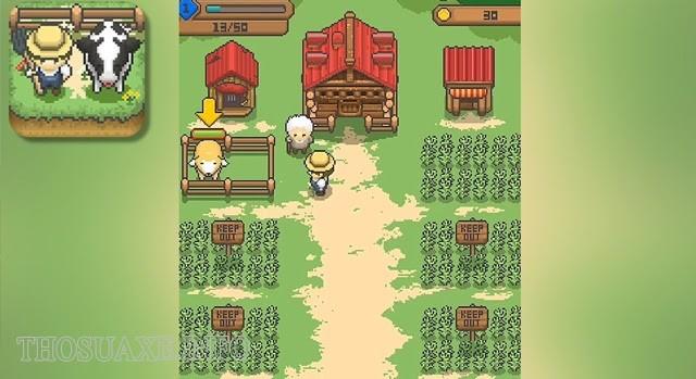 Giao diện đơn giản của Tiny Pixel Farm