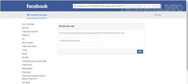 Tắt bảo mật để khôi phục tài khoản Facebook