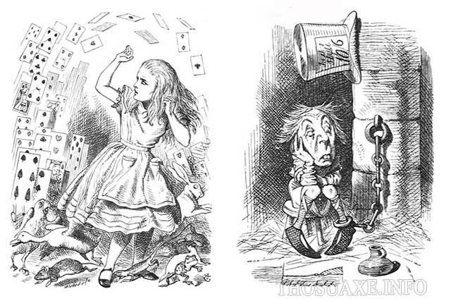 John Tenniel đã vẽ hình minh họa cho nhiều tác phẩm nổi tiếng
