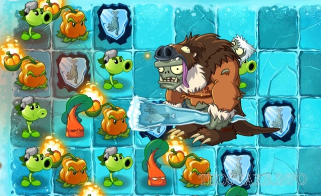Plants vs. Zombies 2 bản mở rộng Frostbite Caves