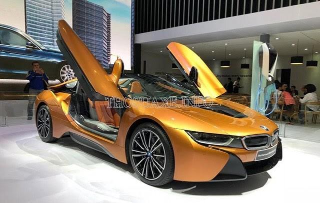 BMW I8 là mẫu xe có ngoại hình nổi bật nhất trong các mẫu xe của hãng