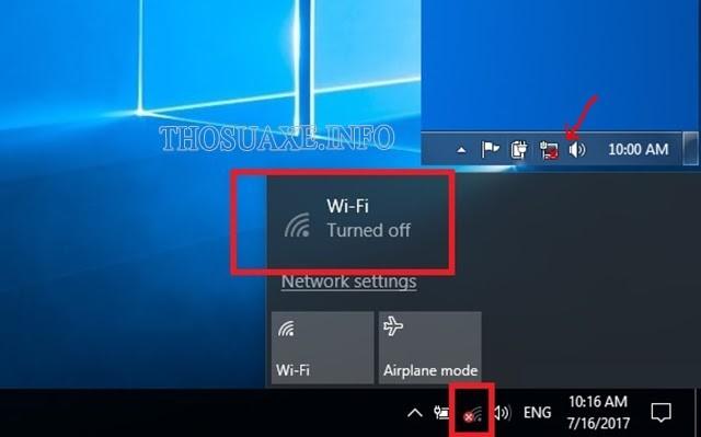Biểu tượng Wifi có x đỏ