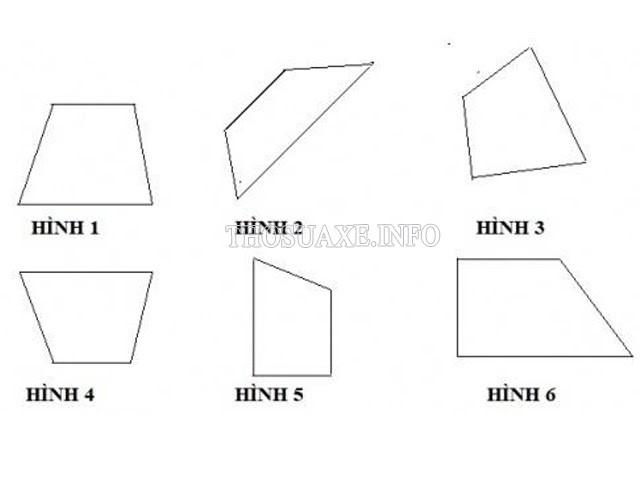 Hình 3 không phải là hình thang