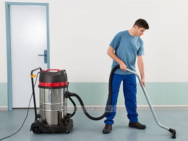 Máy hút bụi công suất cao được sử dụng để làm sạch ở những không gian lớn