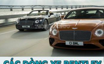 Tổng hợp các dòng xe Bentley