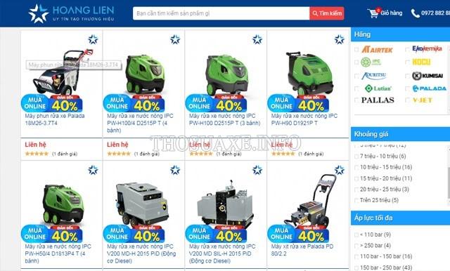 Điện máy Hoàng Liên hiện đang phân phối nhiều dòng máy rửa xe chuyên nghiệp chính hãng với nhiều mức giá để bạn lựa chọn