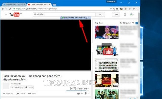 Biểu tượng của IDM ở góc video