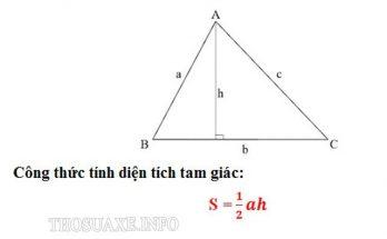 Công thức tính diện tích tam giác thường tổng quát