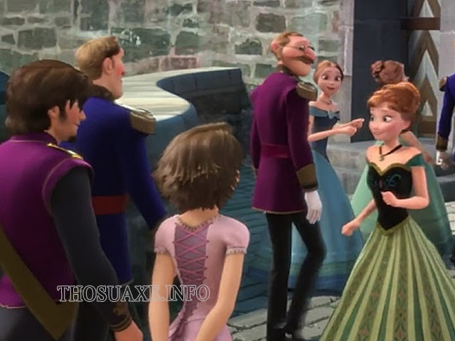 Hình ảnh cặp đôi của phim Tangled trong Frozen