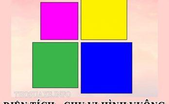 Hình vuông có toàn bộ tính chất của hình chữ nhật và hình thoi