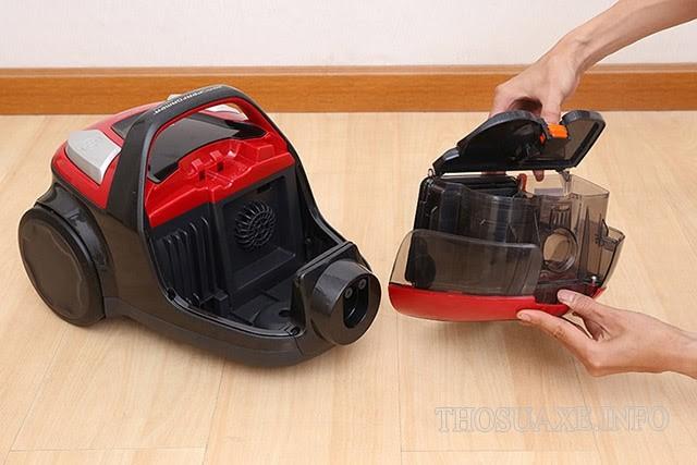Khoang chứa bụi của máy hút lông chó mèo