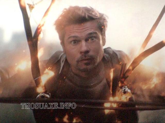 Khung hình cameo duy nhất của Brad Pitt lại chính là cái chết rất nhọ của nam tài tử