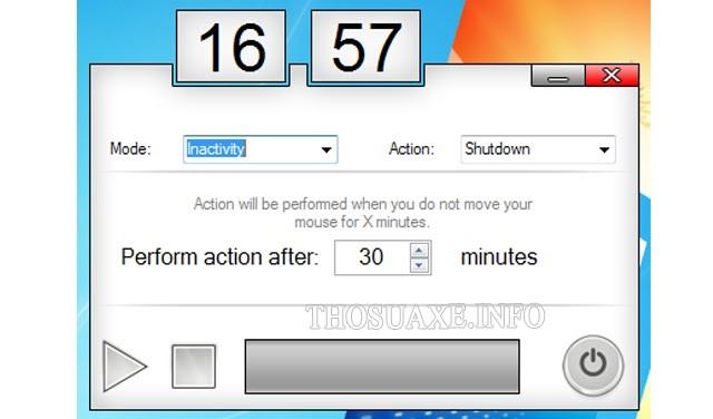 Phần mềm Sleep Timer