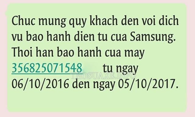 Tin nhắn thông báo của Samsung